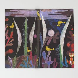 Landscape With Yellow Birds Paul Klee Throw Blanket