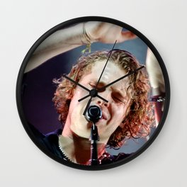 Meet You There Tour Blue and Gray Wall Clock