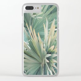 Palm Foliage Clear iPhone Case