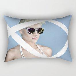 Reckess Blue Rectangular Pillow