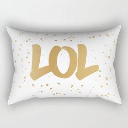 LOL- fun typography art print Rectangular Pillow