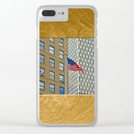 Americana - Stars and Stripes - Manhatten - NYC Clear iPhone Case