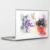 simba Laptop & iPad Skins featuring Simba the princess sphynx by Psyca