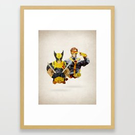 Polygon Heroes - Xmen Framed Art Print