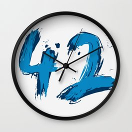 42 only Wall Clock