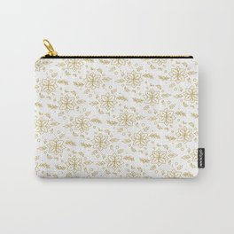 Christmas Flowers Pattern Carry-All Pouch