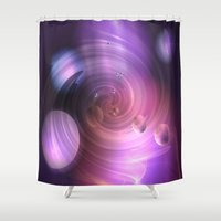 return Shower Curtains featuring Return by Laake-Photos