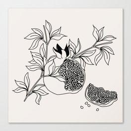 Pomegranate (BW) Canvas Print