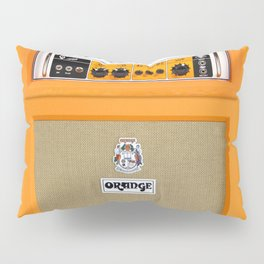 Bright Orange color amplifier amp Pillow Sham