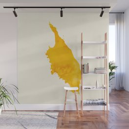 Grimsey Yellow Wall Mural