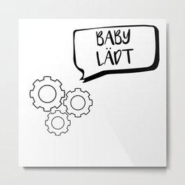 Schönes Kleinkind Geschenk werdende Eltern Metal Print
