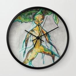 Mandrake root Wall Clock