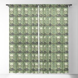 Frankenstein - Pop Art Sheer Curtain