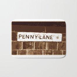 Street sign Penny Lane, Liverpool Bath Mat