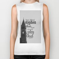 stephen king Biker Tanks featuring Stephen victorious by KimberosePhotography