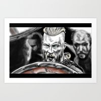 vikings Art Prints featuring vikings by Flyens
