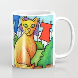Cat On Fence Coffee Mug