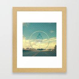 Try Too Hard Framed Art Print