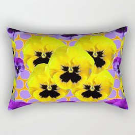 YELLOW & PURPLE SPRING PANSIES ART Rectangular Pillow