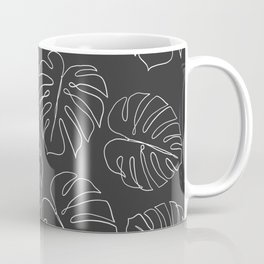 black leaf monstera Coffee Mug