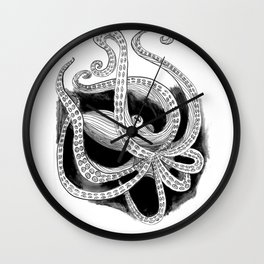 Jetting Away - Inked Wall Clock