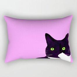 Hey kitty girl Rectangular Pillow