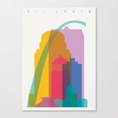 Shapes of St. Louis. Accurate to scale Canvas Print