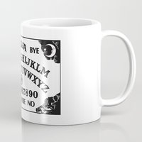ouija Mugs featuring Ouija Board by Mobii
