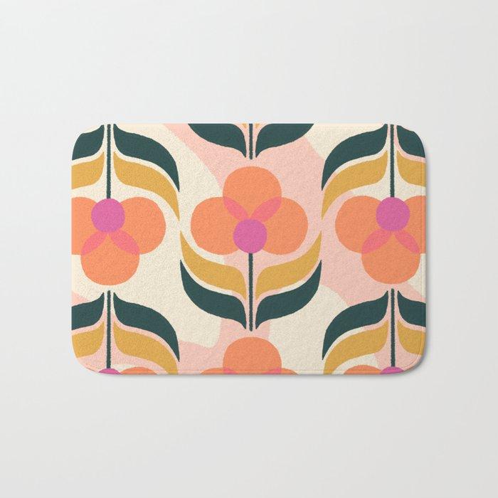 Retro Flower Bath Mat