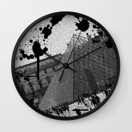 View of the Louve from the outside Wall Clock