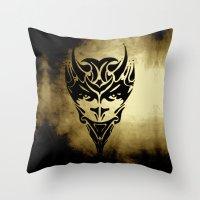 sagittarius Throw Pillows featuring SAGITTARIUS  by the artist J©
