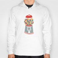gumball Hoodies featuring Gum Ball Machine by Mrs. Ciccoricco