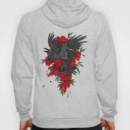 Raven with flowers Hoody