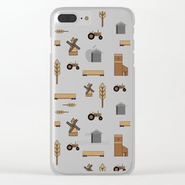 Pattern: Wheat Way Clear iPhone Case