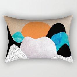 Paper mountains Rectangular Pillow