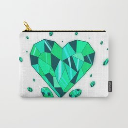 Heart of Emerald Carry-All Pouch