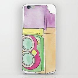 Vintage Rolleiflex Watercolor iPhone Skin