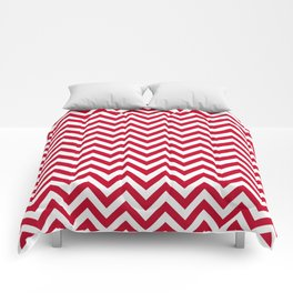 Chevron pattern - red - more colors Comforters