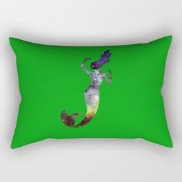 Galaxy Mermaid (Green) Rectangular Pillow