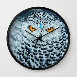 Snowy Owl Spirit Wall Clock