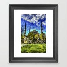 Blue Mosque Istanbul Art Framed Art Print