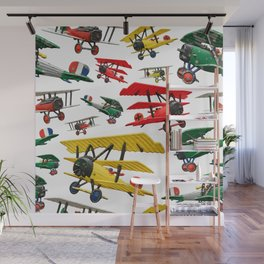 Assorted set of generic vintage First World War toy airplanes Wall Mural