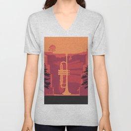 Music Mountains No. 3 Unisex V-Neck