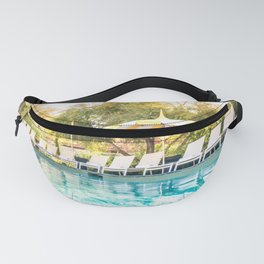 Poolside Parker Palm Springs Hot Day Blue and Yellow  Fanny Pack