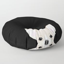Chihuahua peeking dog breed cute chihuahuas gifts for dog moms pure breed Floor Pillow