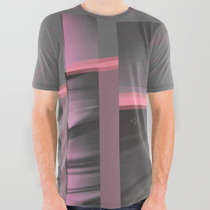 Claraboya, Geodesic Habitacle, Pink neon room All Over Graphic Tee