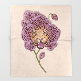 Wild Orchid Throw Blanket