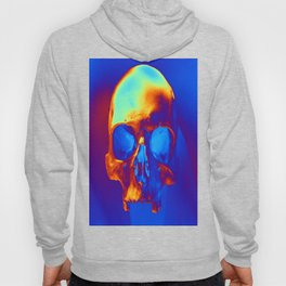Skull in blue and gold Hoody