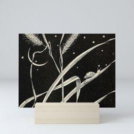 Night Snail Mini Art Print