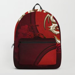 Chinese dragon with hearts Backpack